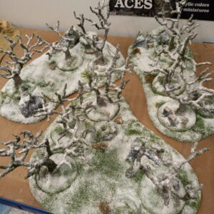 Warhammer Winter Dead Trees Terrain with Removable Plant Bases