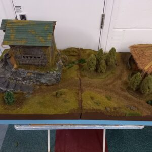 DnD Warhammer Hill Top Castle and Farm House Modular Gaming Board